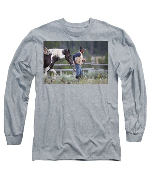 Big Horn Cowboy Long Sleeve T-Shirt