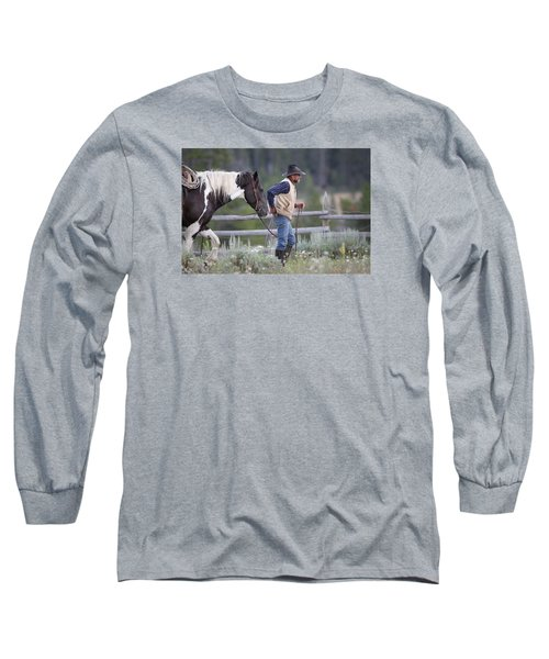 Big Horn Cowboy Long Sleeve T-Shirt