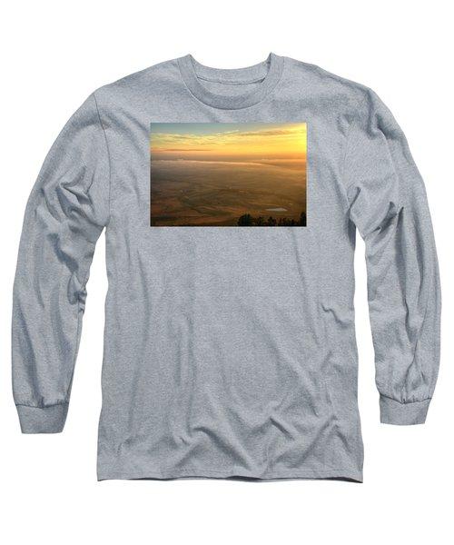 Bighorn Sunrise Long Sleeve T-Shirt by Fiskr Larsen