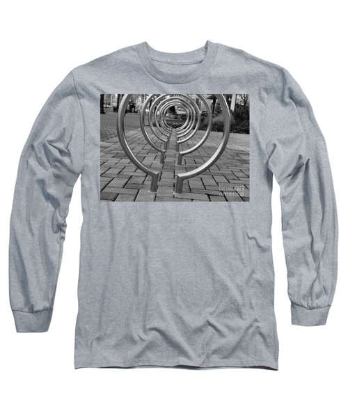 Bike Rack Black And White Version Long Sleeve T-Shirt by John S