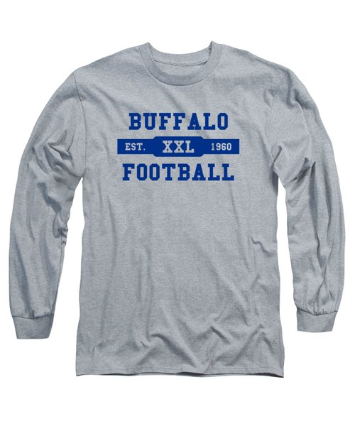 Bills Retro Shirt Long Sleeve T-Shirt by Joe Hamilton