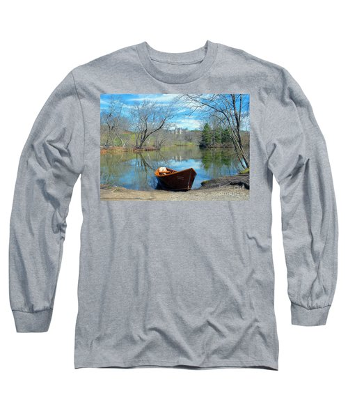 Long Sleeve T-Shirt featuring the photograph Biltmore Reflections by Li Newton