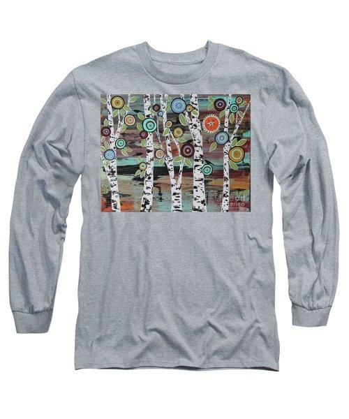 Birch Woods Long Sleeve T-Shirt by Karla Gerard