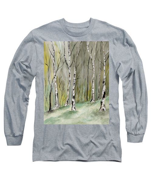 Birches Before Spring Long Sleeve T-Shirt
