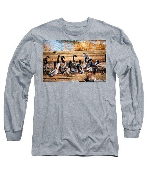 Bird Gang Wars Long Sleeve T-Shirt by Sumoflam Photography