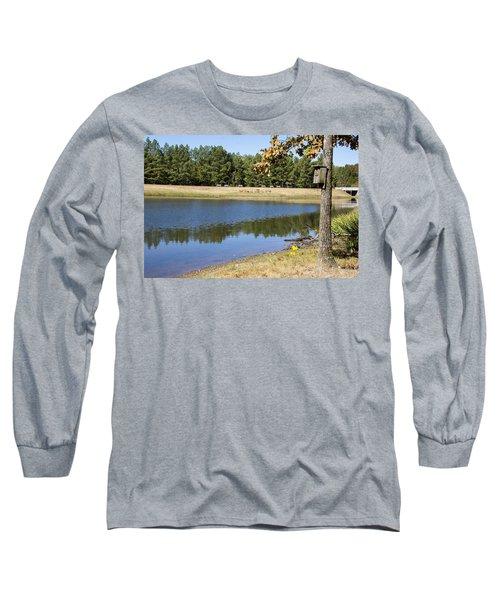 Bird House Lake Long Sleeve T-Shirt by Ricky Dean