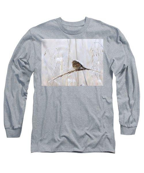 Bird In First Frost Long Sleeve T-Shirt