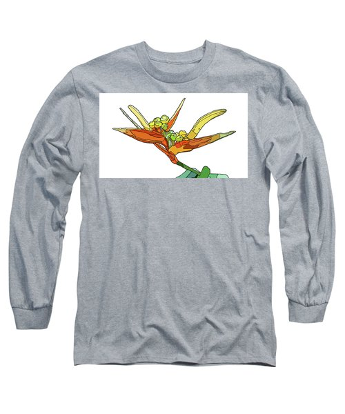 Bird Of Paradise Long Sleeve T-Shirt by Jamie Downs