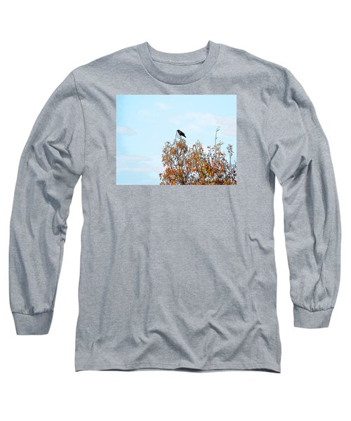 Bird On Tree Long Sleeve T-Shirt by Craig Walters
