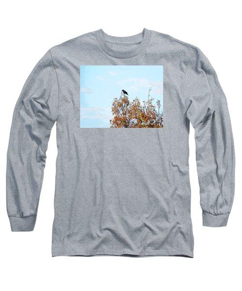 Bird On Tree Long Sleeve T-Shirt