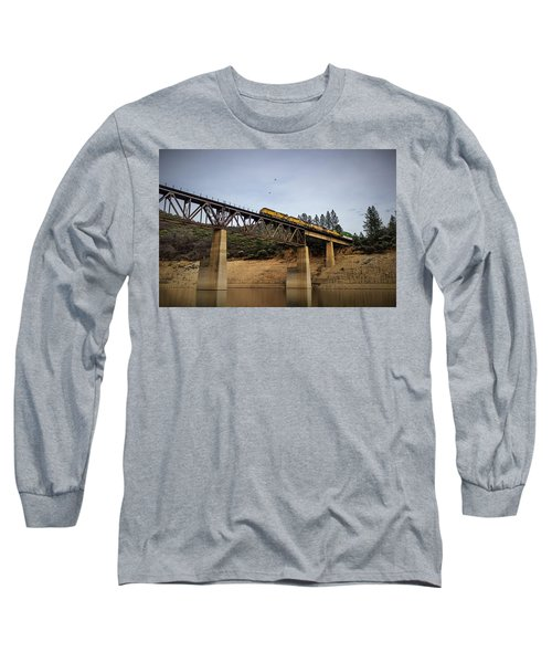 Bird Vs Train Long Sleeve T-Shirt