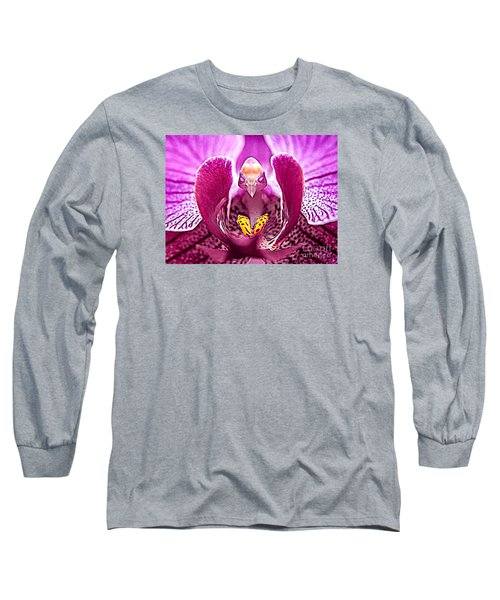 Bird With Butterfly - Floral Oddity Long Sleeve T-Shirt by Merton Allen