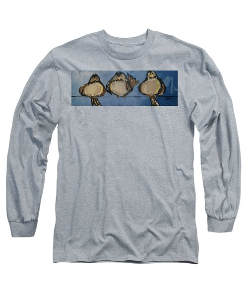 Birdies On A Wire Long Sleeve T-Shirt