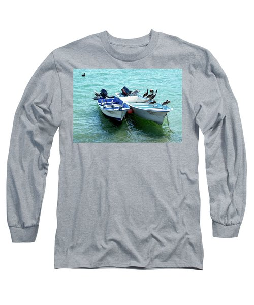 Birds Sunbathing  Long Sleeve T-Shirt