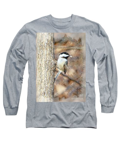 Long Sleeve T-Shirt featuring the photograph Bird@seed by Robert Pearson