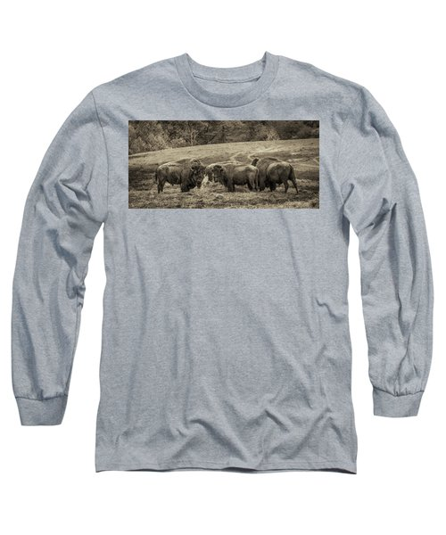 Long Sleeve T-Shirt featuring the photograph Bison 1 - Pano by Joye Ardyn Durham
