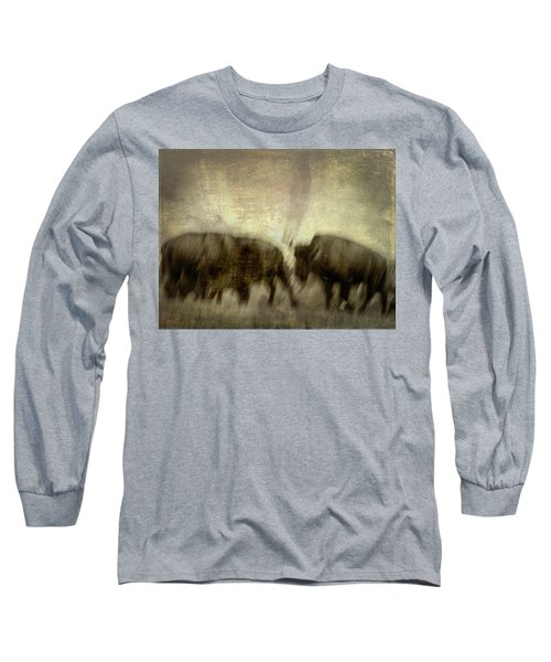 Long Sleeve T-Shirt featuring the photograph Bison 3 by Joye Ardyn Durham