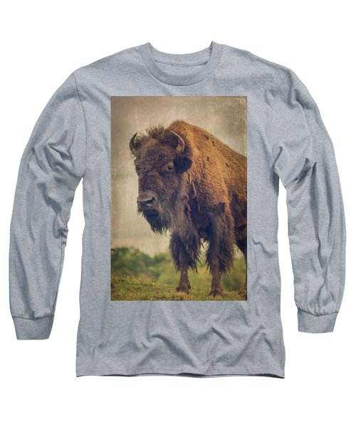 Long Sleeve T-Shirt featuring the photograph Bison 8 by Joye Ardyn Durham