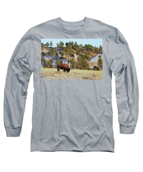 Bison In Custer State Park Long Sleeve T-Shirt