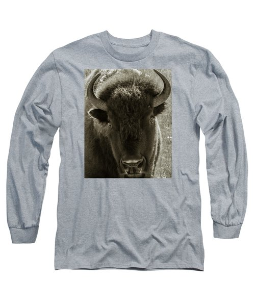 Bison Surprise Long Sleeve T-Shirt by Elizabeth Eldridge