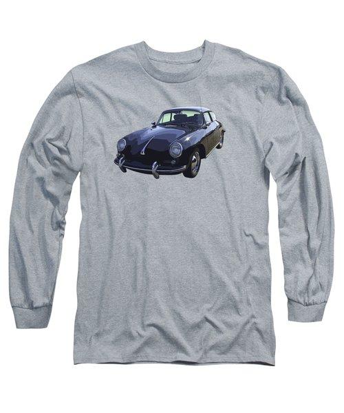 Black 1962 Porsche 356 E Sportscar  Long Sleeve T-Shirt by Keith Webber Jr