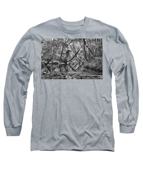 Black And White 40 Long Sleeve T-Shirt