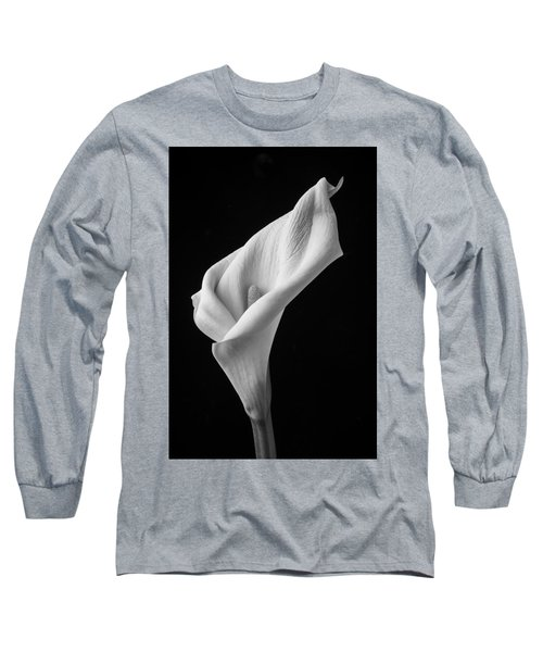 Black And White Calla Lily Long Sleeve T-Shirt