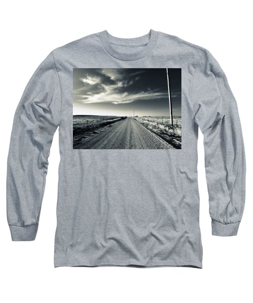 Black And White Gravel Long Sleeve T-Shirt