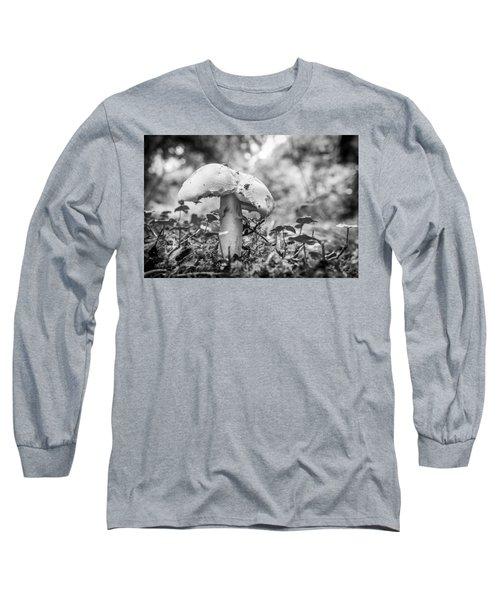 Black And White Mushroom. Long Sleeve T-Shirt