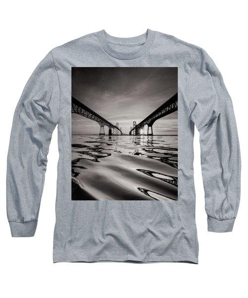 Black And White Reflections Long Sleeve T-Shirt by Jennifer Casey