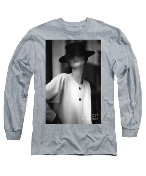 Black And White Long Sleeve T-Shirt by Steven Macanka