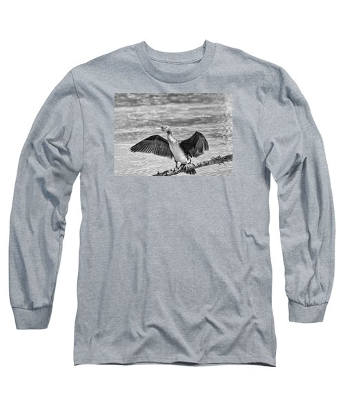 Black And White Welcome In Long Sleeve T-Shirt by Leif Sohlman