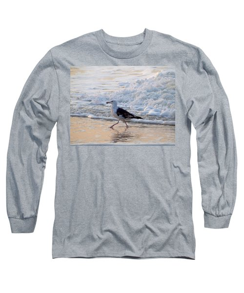Long Sleeve T-Shirt featuring the photograph Black-backed Gull by  Newwwman