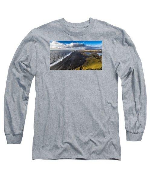 Long Sleeve T-Shirt featuring the photograph Black Beach by James Billings