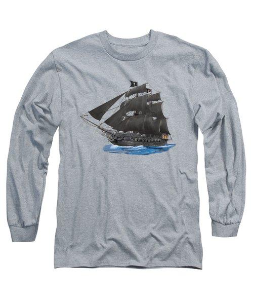 Black Beard's Pirate Ship Long Sleeve T-Shirt