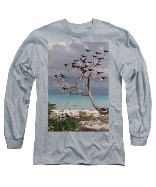 Long Sleeve T-Shirt featuring the photograph Black Birds by Mary-Lee Sanders