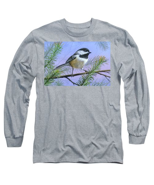 Black Cap Chickadee Long Sleeve T-Shirt