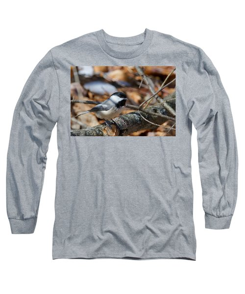 Black-capped Chickadee 0571 Long Sleeve T-Shirt