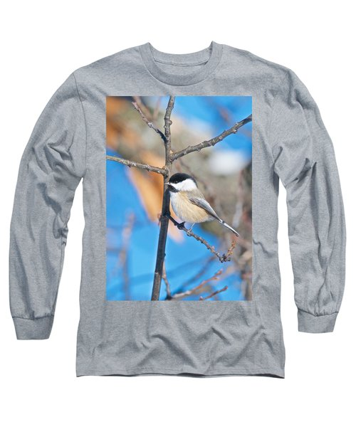 Black Capped Chickadee 1140 Long Sleeve T-Shirt by Michael Peychich