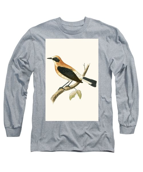 Black Eared Wheatear Long Sleeve T-Shirt by English School