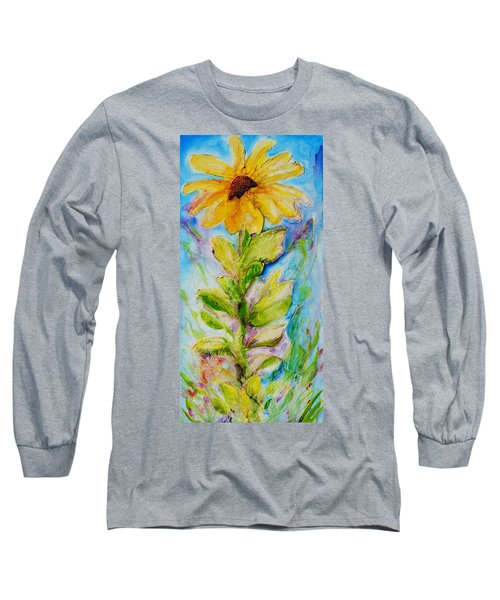 Black Eyed Susan Long Sleeve T-Shirt by Theresa Marie Johnson