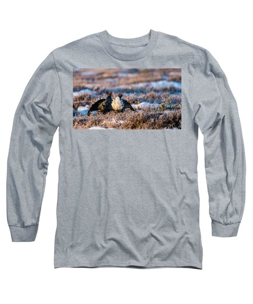 Black Grouses Long Sleeve T-Shirt by Torbjorn Swenelius