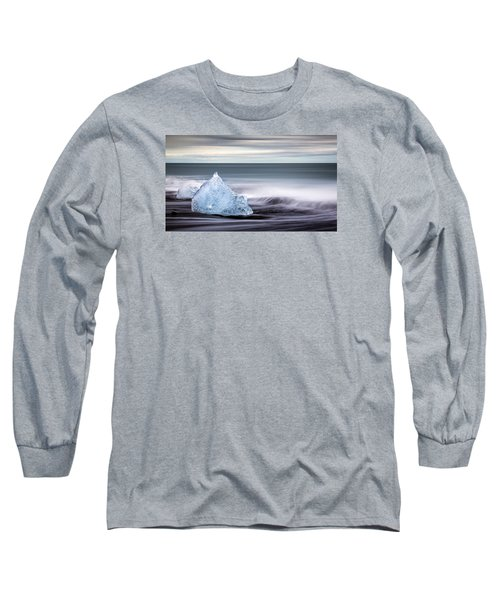 Black Ice Long Sleeve T-Shirt by Brad Grove