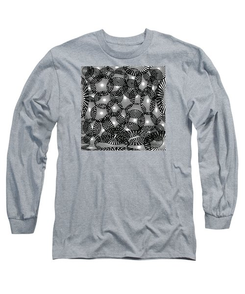 Black Lace Abstract Long Sleeve T-Shirt