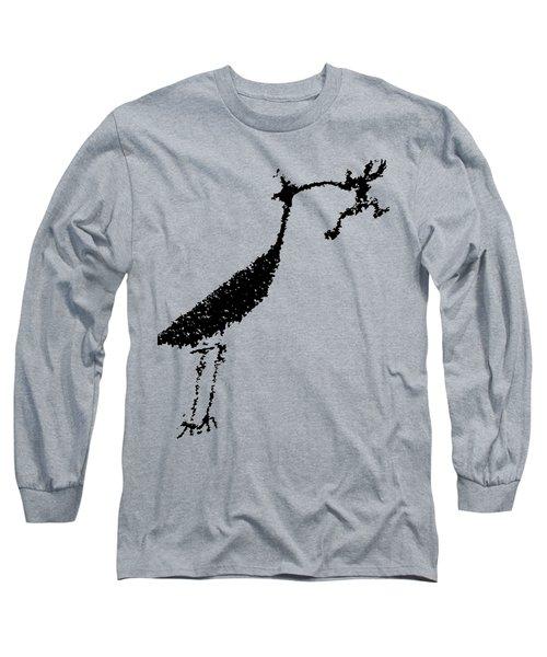 Black Petroglyph Long Sleeve T-Shirt