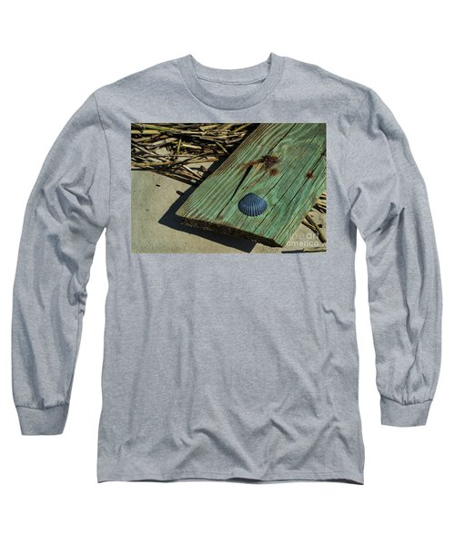 Black Shell On Green Wood Long Sleeve T-Shirt
