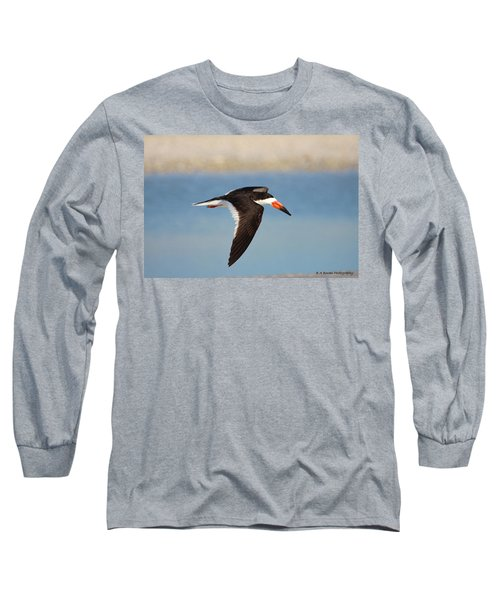 Black Skimmer In Flight Long Sleeve T-Shirt