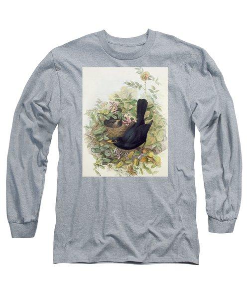 Blackbird,  Long Sleeve T-Shirt by John Gould