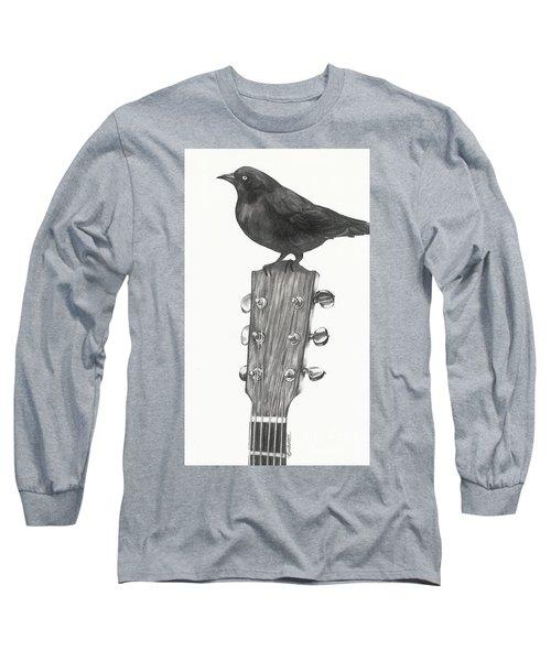 Blackbird Solo  Long Sleeve T-Shirt by Meagan  Visser