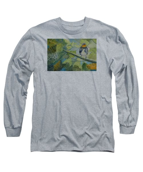 Blackburnian Warbler I Long Sleeve T-Shirt by Ruth Kamenev